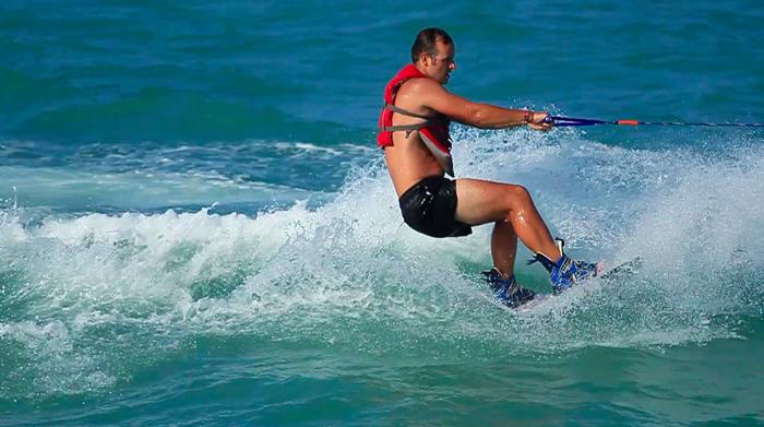 Markus beim Wakeboarden
